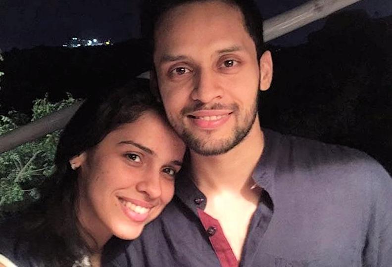 Saina Neval and husband